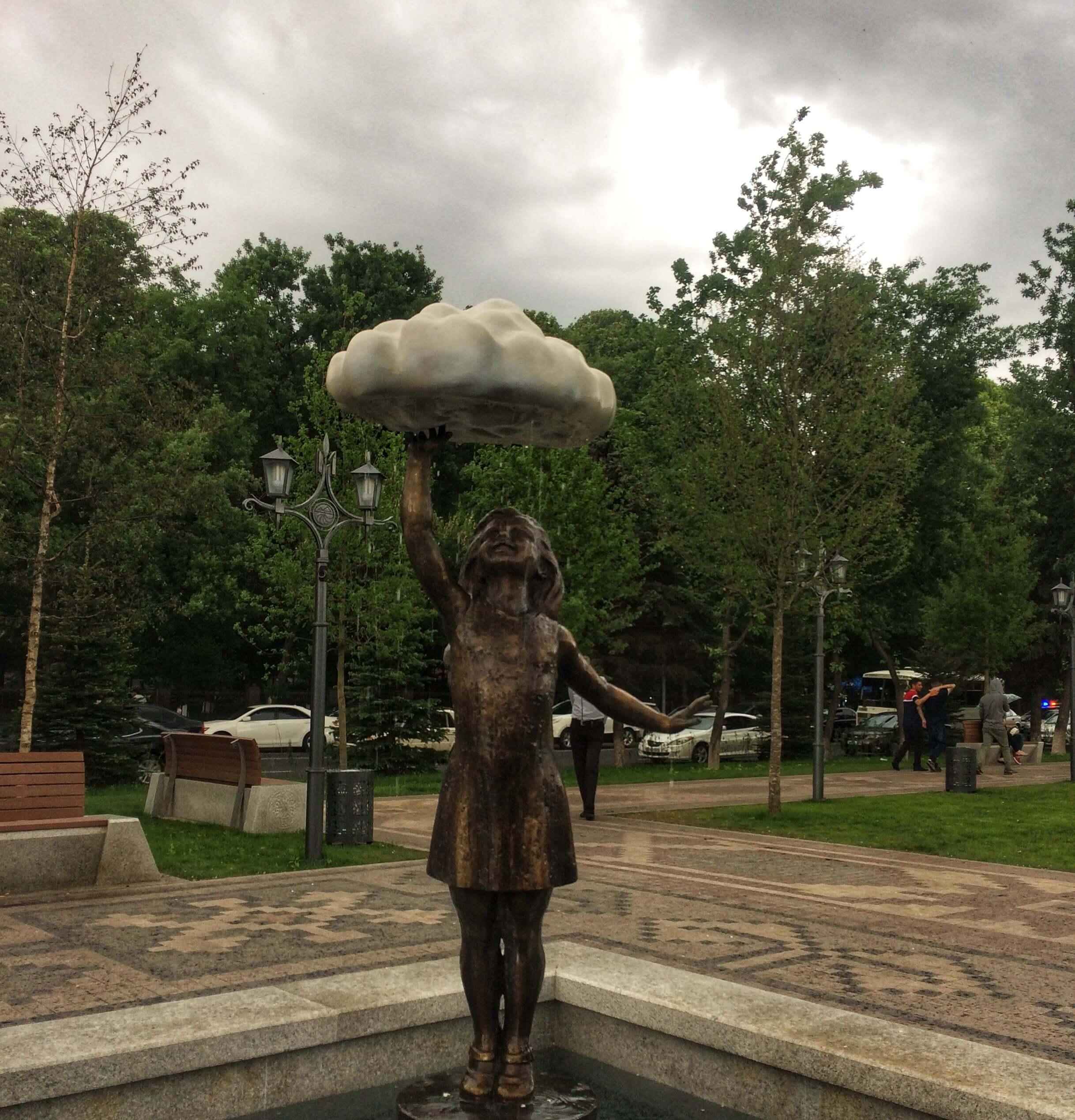 Girl's statue at Yerevan 2800 park