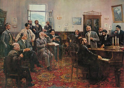 Armenian greatest poets at Vernatun