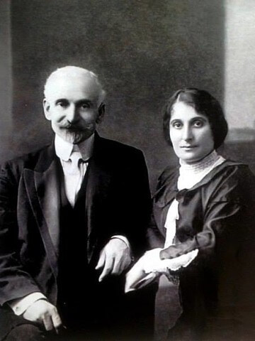 Hovhannes Tumanyan with his wife