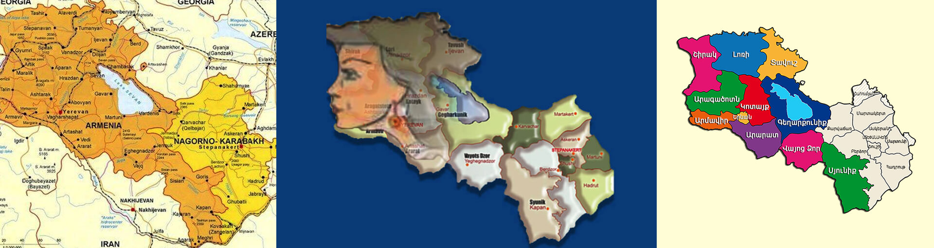 Map of Armenia: Beautiful Girl - Discover Armenia with us